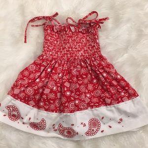 BT Kids Red & White Sundress! Size 2
